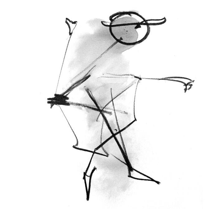 "Naziv rada: ""Robot covek 5"" | Grafitna olovka| 2007. | © Konstantin I. Petrovic"